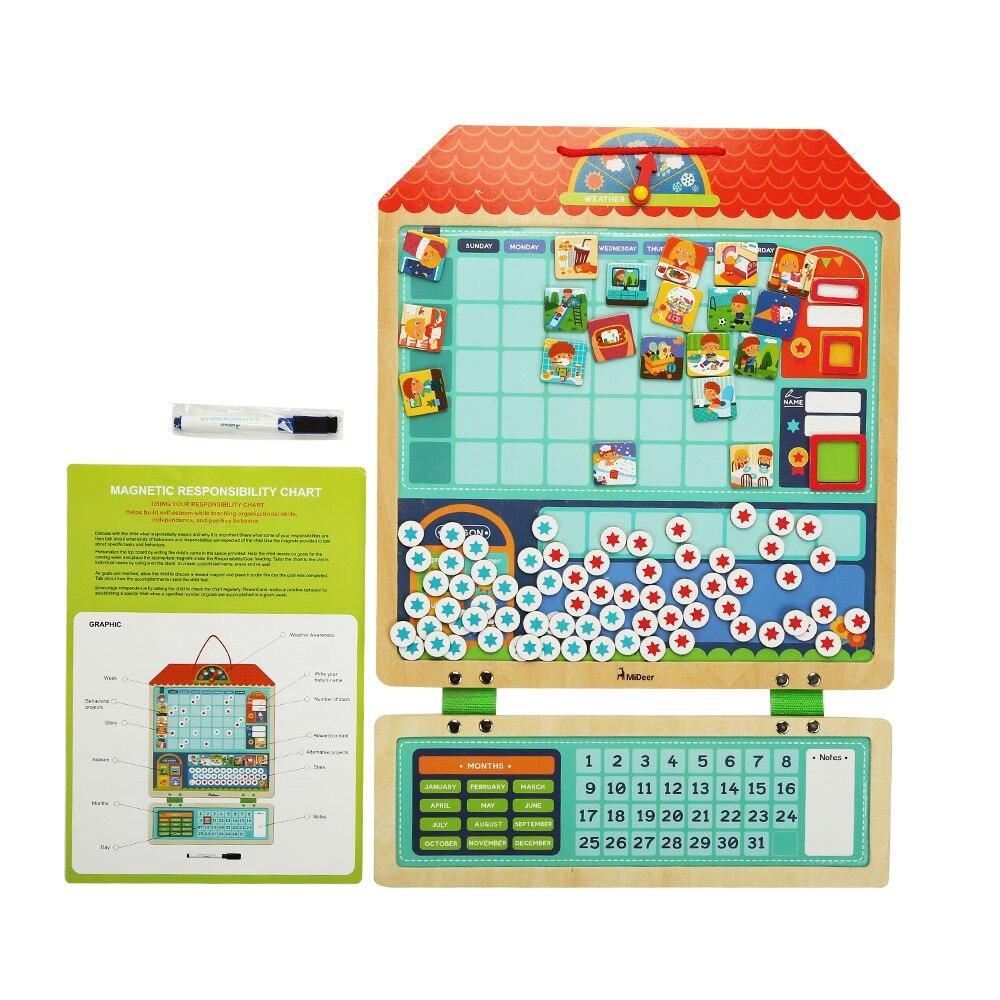 Puzzle 3D jouet Montessori responsabilité magnétique graphique calendrier calendrier jouets éducatifs pour enfants cadeau d'anniversaire puzzle
