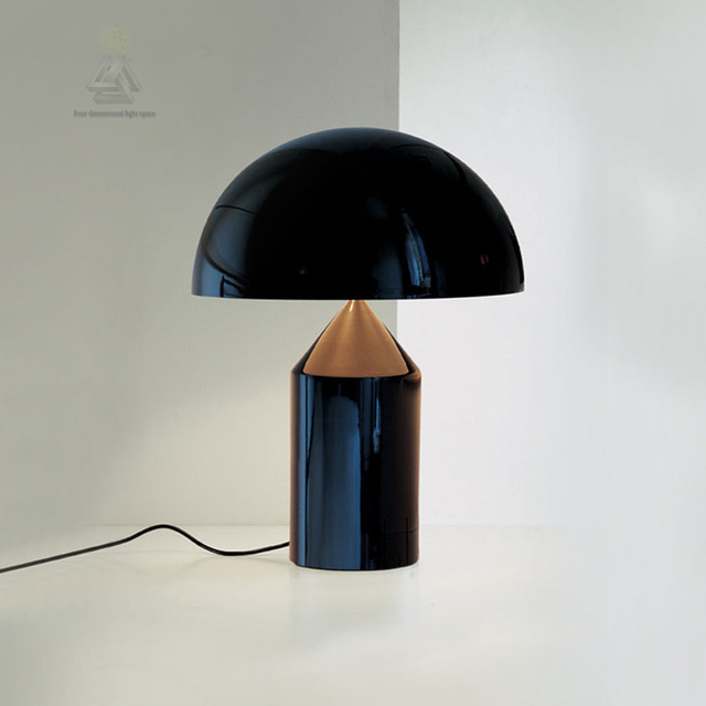Creative Fashion LED Metal Art Decorative Replicas Mushroom Black Gold Desk  Bedroom Living Room Table Desk