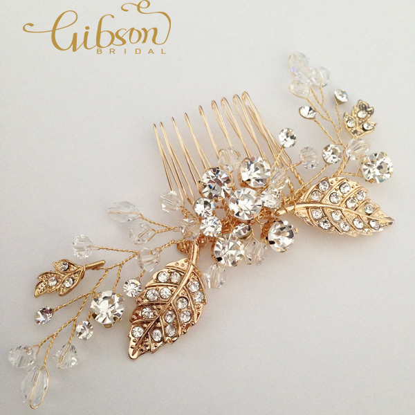free shipping crystal flower wedding hair comb gold bridal headpiece women accessories in hair jewelry from jewelry accessories on aliexpress com