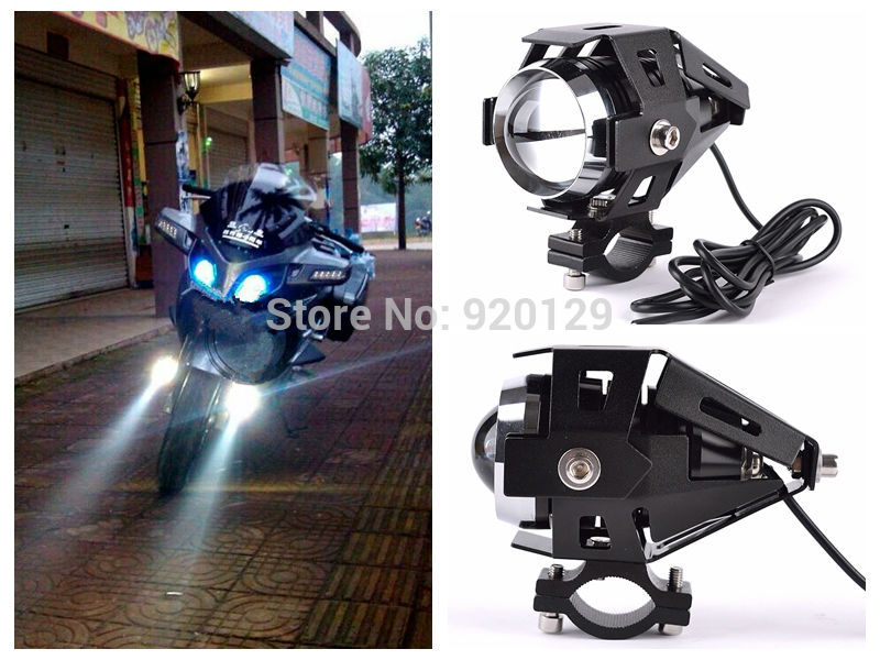 Motorcycle LED Driving Spot Light Lamp Headlight For Victory Custom Wolf Cafe Racer Triumph Daytona 675