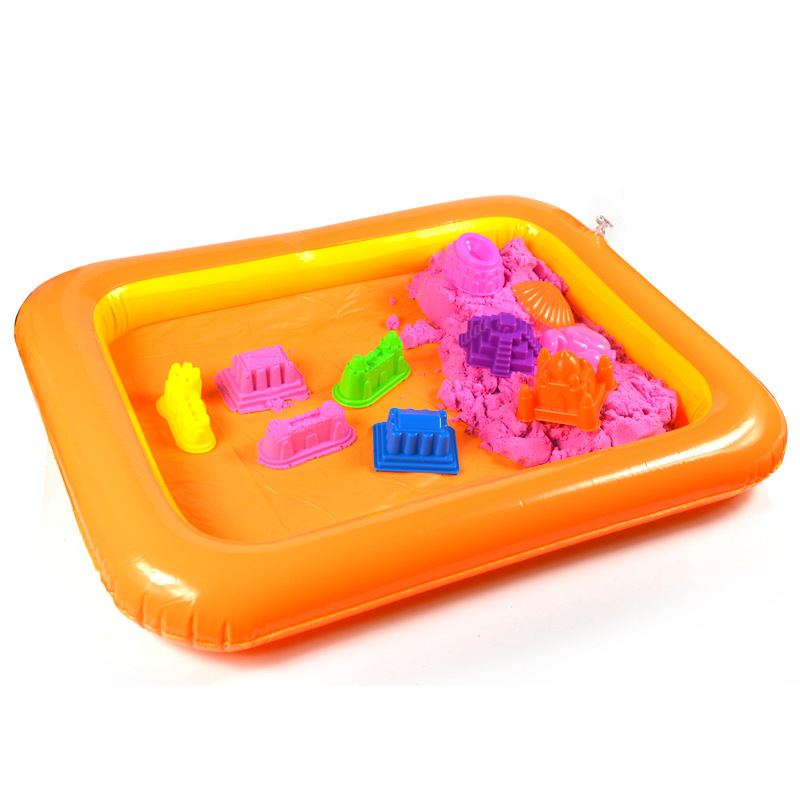 Indoor Magic Play Inflatable Sandbox Toys Sand Tray Accessories Children Toys Mars Space Tray Accessories Plastic Mobile Table