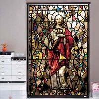 Lord Jesus Christ Decorative Window film Glass films Door sticker frosted privacy window film 75cmX125cm