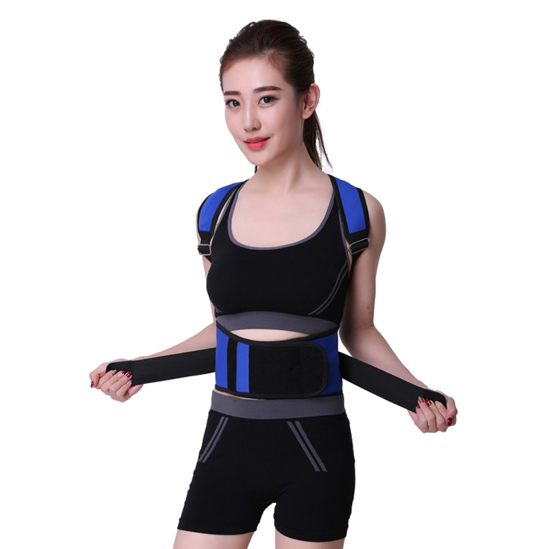 Health Care S-XL Size Adjustable Back Brace Posture Corrector Back Support Shoulder Belt Men/ Women Massage & Relaxation Tools 3