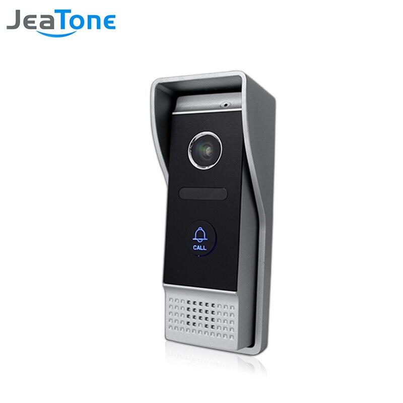 JeaTone 4 Wired Video Door Phone 1200TVL Door Bell IP65 Waterproof pinhole lens Call Panel Video