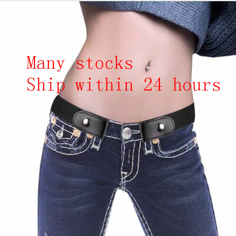 2019 Buckle-Free   Belt   Elastic Buckle Free Women's Plus   Belts   No Buckle Stretch   Belt   for Jeans Pants Dresses