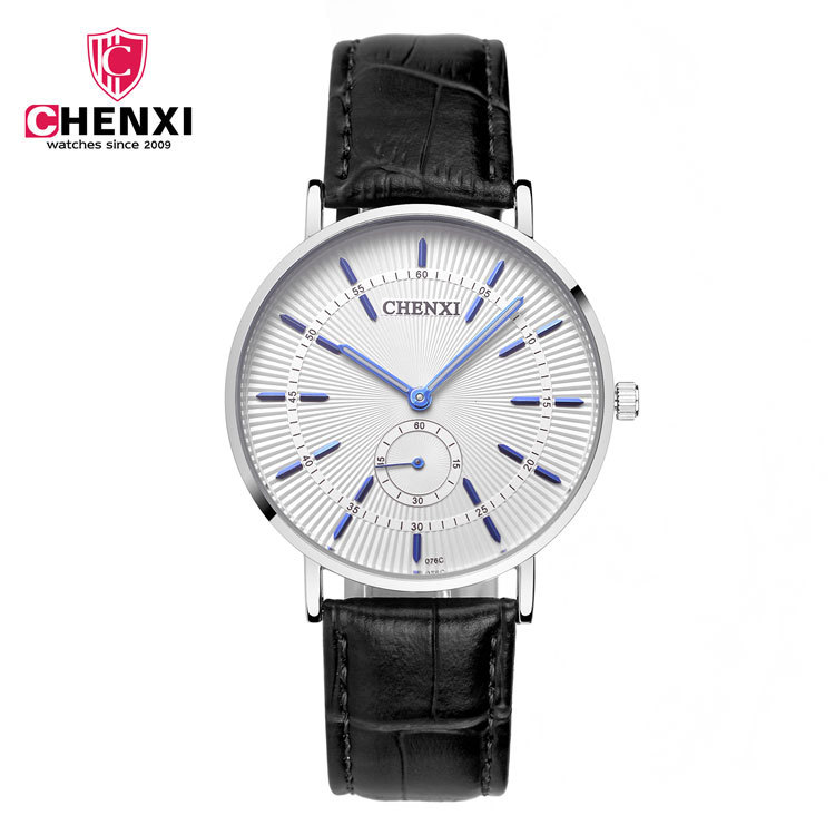 2018 CHENXI Leather Men watch Top brand Casual Business Analog ultra slim man Quartz Watch Mens relojes hombre Relogio gift