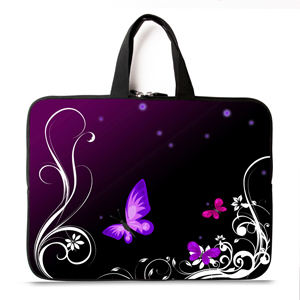 Purple Butterfly 11,12,13,14 15 17 inch Universal Laptop Ultrabook Notebook Skin Bag &for Macbook Air Pro Sleeve Case Women Men