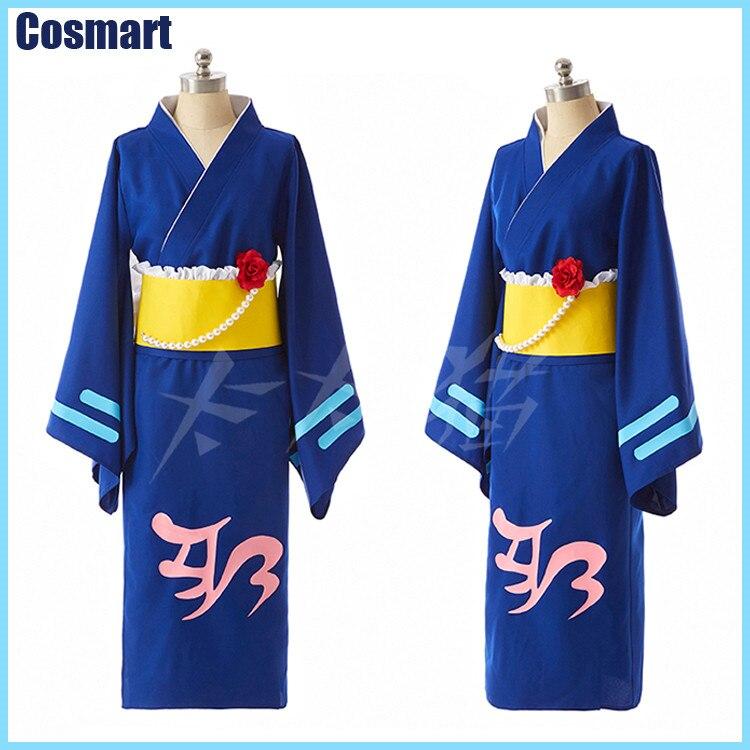[STOCK]+Wig Anime Chunibyou Demo Koi ga Shitai Takanashi Rikka Kimono Uniform Summer Robe cosplay costumes for women free ship
