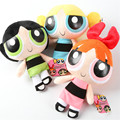 "Movie The Powerpuff Girls 20CM 8"" Bubbles Blossom Buttercup Stuffed Plush Doll Toys Kids Gift for christmas day 3pcs/lot"