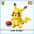 Г-н Froger Пикачу LOZ Мини Блоки Игрушки Пластиковый Блок Diy Симпатичные чиби Классические Игрушки Pocket Monster Ball Кукла Фильм рис.