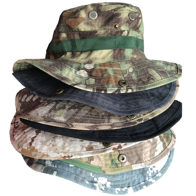 Men s Army Caps Travel Tactical Gear Neck Flap Bucket Hat Sunscreen Soldier  Sun Camouflage Military Hunting 9ff4360811c8