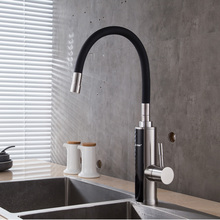 Electric Instant Water Heater Faucet Stainless Steel Flexible Rotating Tankless Heating Temperature Display 220V