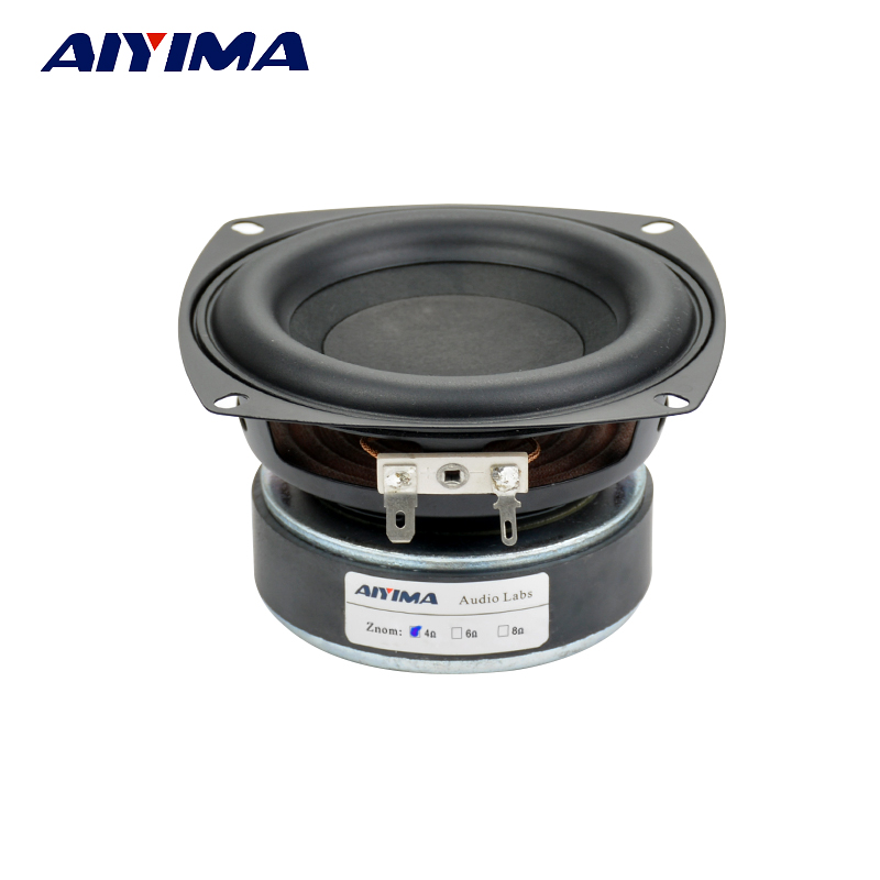 Aiyima 1PC 4 inch Hi-Fi 8ohm Subwoofer Speaker Audio Super Bass Woofer Loudspeaker 40W High Power audio loudspeaker 40w woofer speaker double magnetic speaker 4 5 inch 4 ohms subwoofer bass speaker for diy speakers