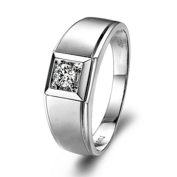 ae8c6e20f4db6 Love Engagement Ring GVBORI 0.2ct Natural Diamond 18K White Gold Wedding  Ring For Men Brand Jewelry Men s Jewelry Valentine Gift