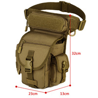 Protable Ourdoor Waterproof Tactical EDC Molle Pack Portable Military Sawt Leg Belt Bag Utility Gadget Security