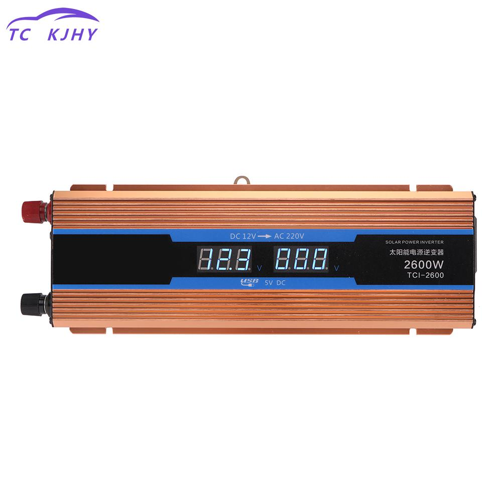 Auto Car Inverter 2600w Dc 12v 220v Power Inverter Charger Converter Sturdy And Durable Vehicle Power Supply Switch Inversor