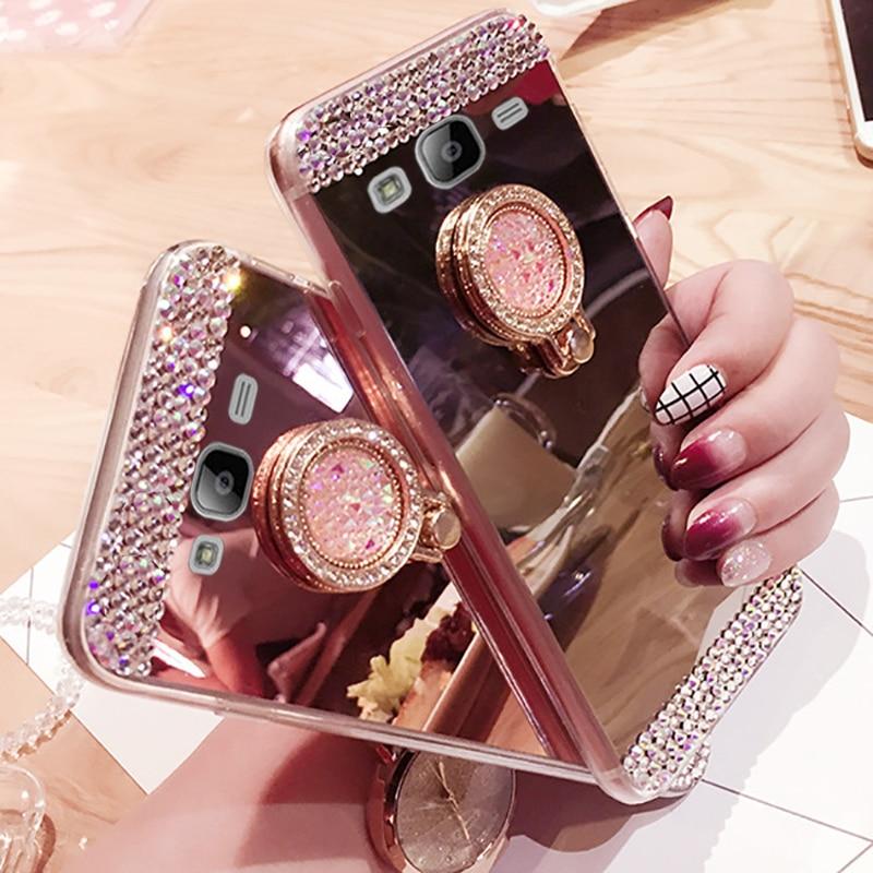 Funda J3 J5 J7 J1 J2 2016 2017 Diamond Mirror Soft TPU Silicone Case for Coque Samsung Galaxy J330 J530 J730 J2 2016 G360 G530