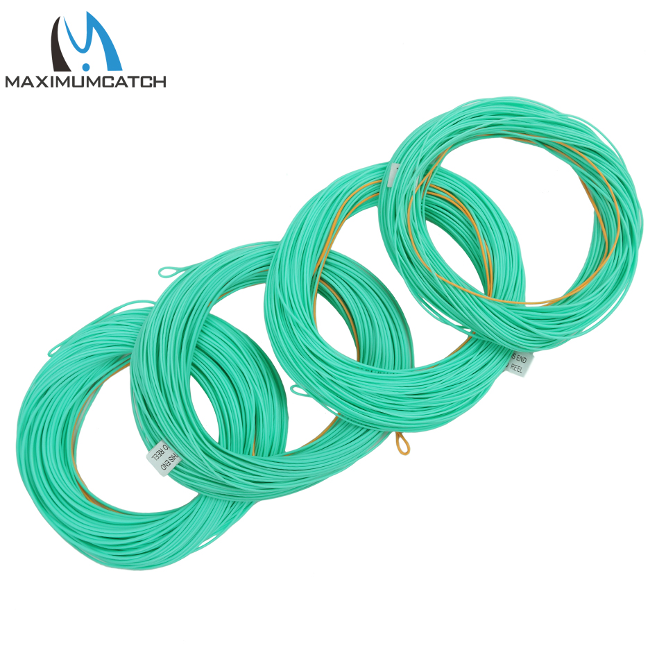 Maxcatch Nymph Fly Line Floating WF2//3//4//5//6F 90/' Weight Forward 2 Welded Loops
