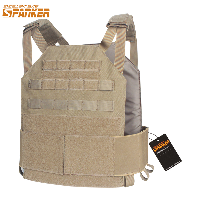 EXCELLENT ELITE SPANKER Outdoor Hunting Tactical Molle Vest AMP System Plate Carrier CS Military Vest Equipment Nylon Waterproof spanker 1000d camouflage tactical molle tank mechanic chef cooking grilling apron army training hunting waterproof nylon vest