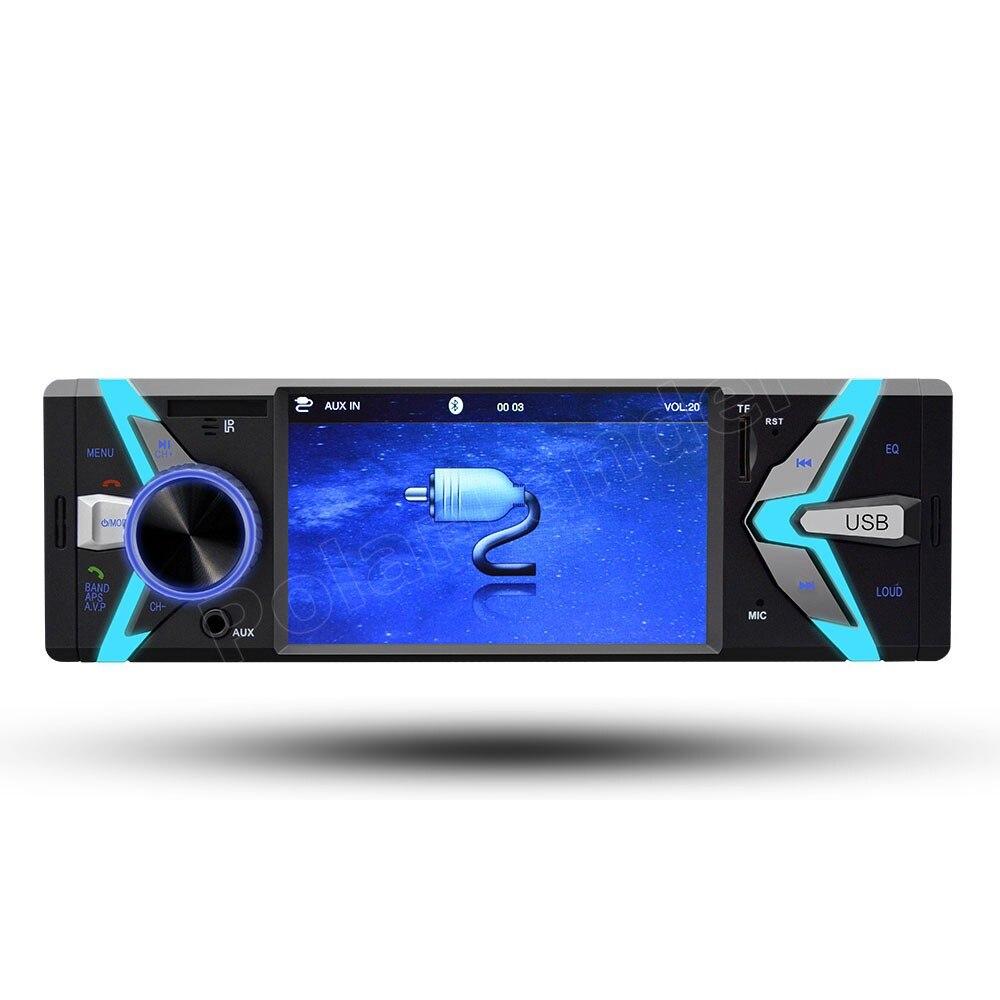 1 autoradio 4 pouces USB TF FM MP4 MP5 FM lecteur de voiture Bluetooth mains libres 12 V deux sorties vidéo de haute qualité - 2