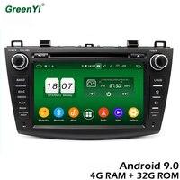 GreenYi 4G RAM Android 9.0 Car DVD For Mazda3 Mazda 3 2009 2012 DSP Radio GPS Multimedia Player Head Unit