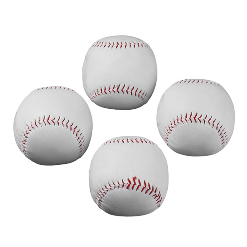10/12 Inches Universal Handmade Baseballs PU Hard&Soft Baseball Balls Softball Ball Training Exercise Baseball Balls