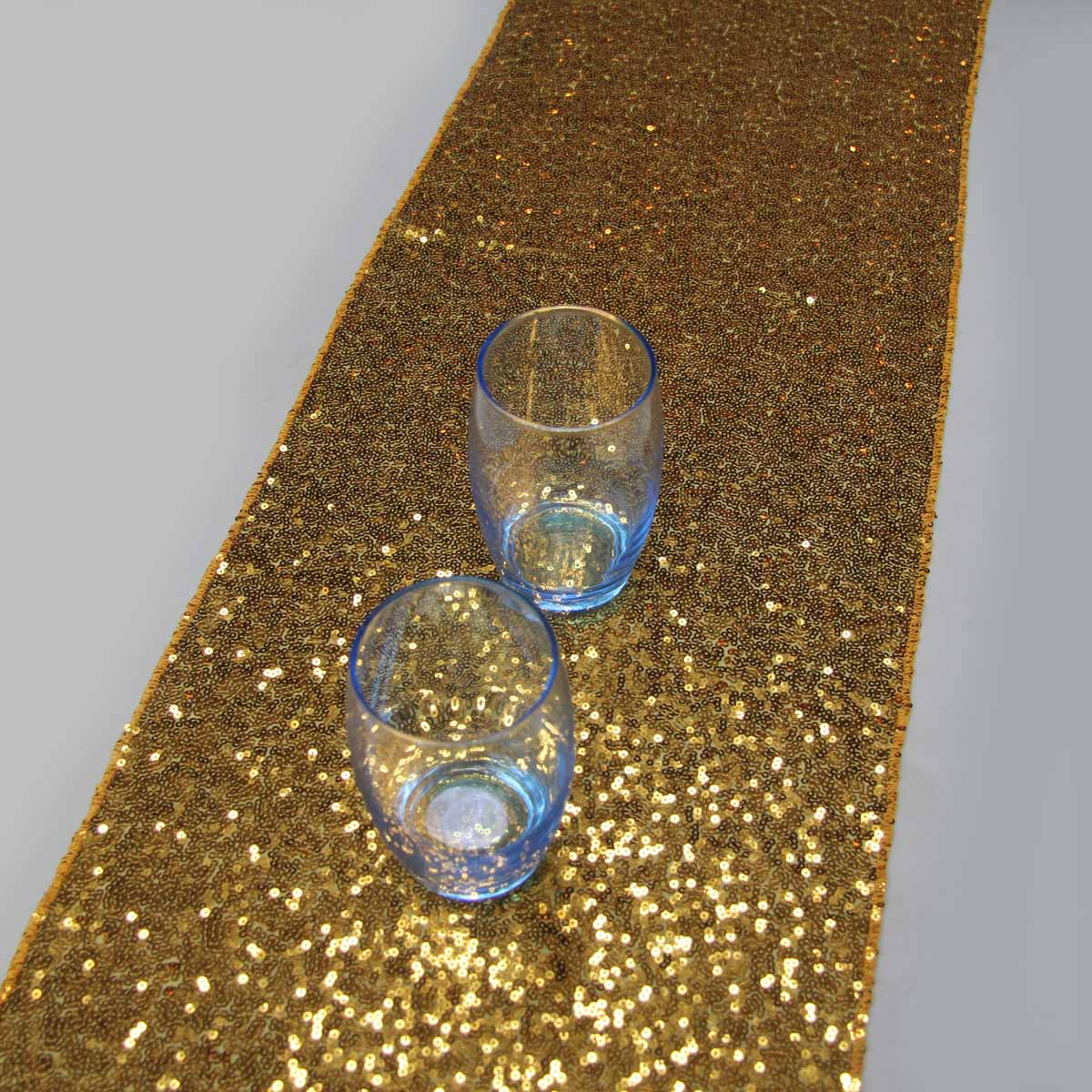 1 Pcs 12 X72 30cmx183cm Luxury Gold Sequin Table Runner Wedding Party Decoration Solid Color Runners In From Home Garden