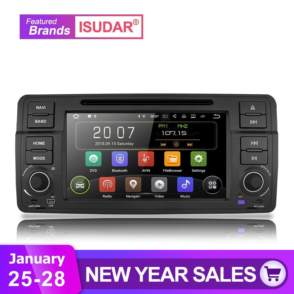 Isudar Voiture lecteur Multimédia Android 8.1.0 GPS 1 Din DVD Automotivo Pour BMW/E46/M3/MG/ ZT/Rover 75 Wifi Radio FM 4 Noyaux 16 gb DSP