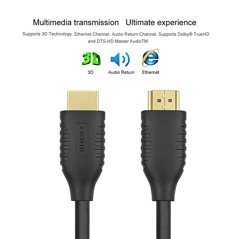 2 Pack WMZ HDMI to HDMI Cables Gold plated Male HDMI Cable 1 4 3D Cable for HDTV LCD Laptop Xbox Projector PS3 1m 1 5m 2m 5m in HDMI Cables from Consumer Electronics