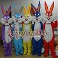 Fancy Gray Bugs Bunny Mascot Easter Bunny Mascot Cartoon Mascot Costume For Festival Party