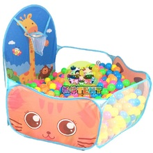 все цены на Portable Baby Playpen Children Outdoor Indoor Ball Pool Play Tent Kids Safe Foldable Playpens Game Pool of Balls for Kids Gifts онлайн