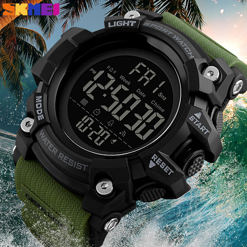 <font><b>SKMEI</b></font> New Fashion Outdoor Sport Watches Waterproof Digital Chronograph Wristwatches Casual Clock Military Men Relogio Masculino image