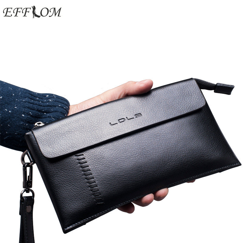 Luxury Brand 100 Genuine Leather Wallet Men Fashion Cowhide Male Clutch Purse Phone Wallet for Credit