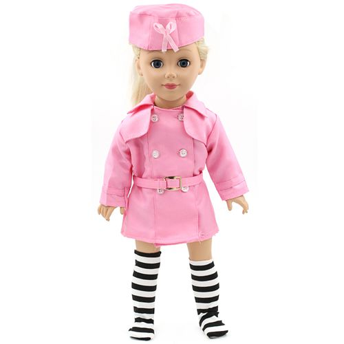 Stock 15 styles Princess Dress Doll Clothes fit 43cm Baby Born Doll Nurse Uniform and Accessories for kids MG063
