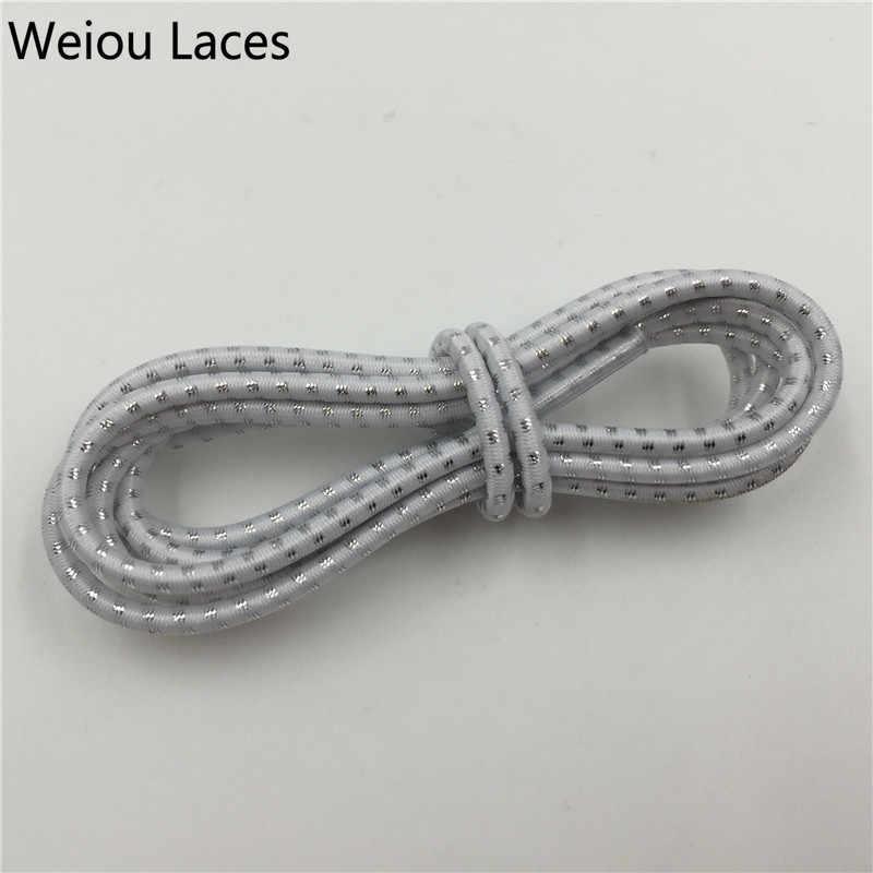 Weiou ที่มีสีสันรองเท้า Lazy Laces Shoelaces ยืดหยุ่นวิ่ง Shoestrings วิ่ง/วิ่งจ๊อกกิ้ง/Triathlon/กีฬาเด็ก Mens รองเท้าฟิตเนส