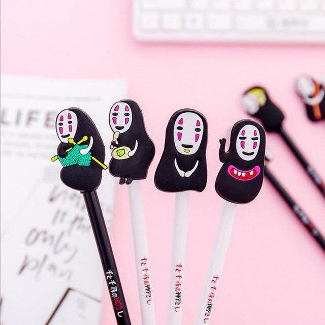 2pcs/lot Japan Hayao Miyazaki Cartoon Gel Pen Promotional Gift Stationery Needle Fountain Pen