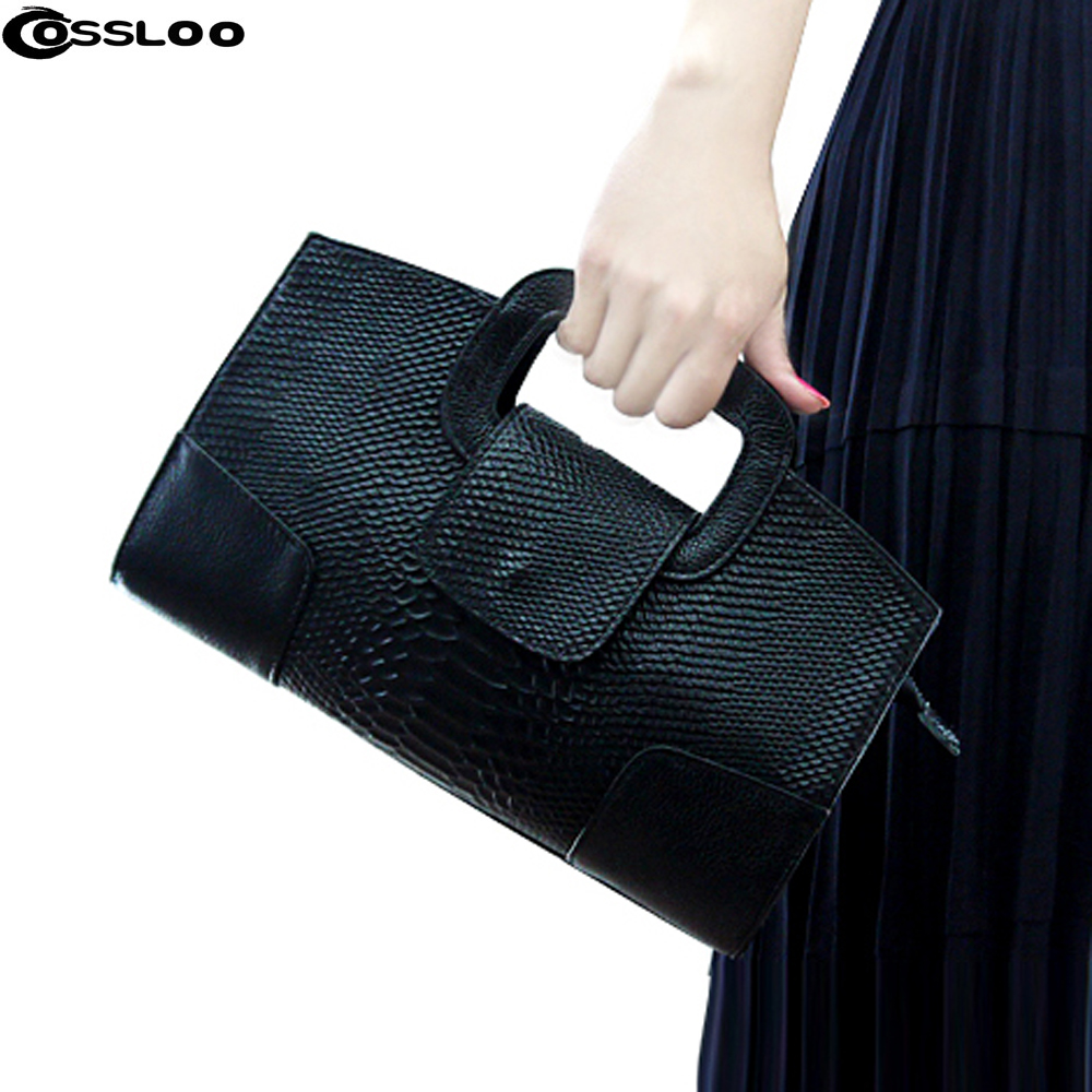 Design Crocodile Pattern women Genuine leather Chain handbag cluth faux Leather Evening Clutches party Shoulder Bag цена