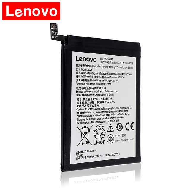 US $9 4 19% OFF|2018 3500mAh BL261 Replacement Battery For Lenovo Vibe K5  Note Lemon A7020a40 A7020a48 K52t38 K52e78 BL 261 Mobile Phone Batteri-in