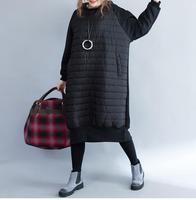 New Autumn Winter Hooded Outwear Black Warm Hoodies Dresses Vestidos Women Top Quality Plus Size Casual