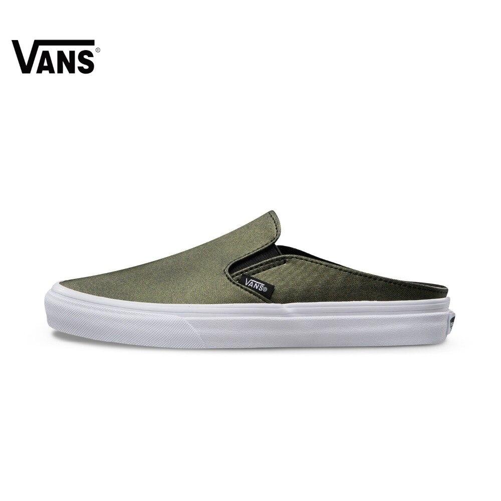 Original Vans Shoes New Arrival Low-Top Women's Skateboarding Shoes Summer Slip-on Sport Shoes Canvas Shoes Women Sneakers