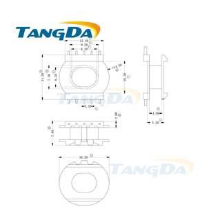 top 10 5 5 pin bobbin list Power Transformer tangda er2010 5 pin 10 p bobbin magnetic core skeleton ferrites power transformer