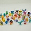 48 pcs Crianças Brinquedos Figuras de Ação Pokemon Pikachu Anime Brinquedos Mista 2-3 cm Mini Pokemon pokeball Figura bola brinquedos Para As Crianças