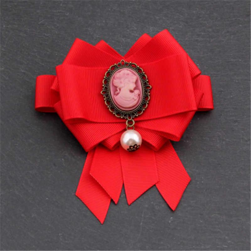 Vintage Queen หัวเครื่องประดับเข็มกลัดริบบิ้นผ้าเข็มกลัดสำหรับผู้หญิงหญิง Coat เสื้อสูท Pins อุปกรณ์เสริมของขวัญ