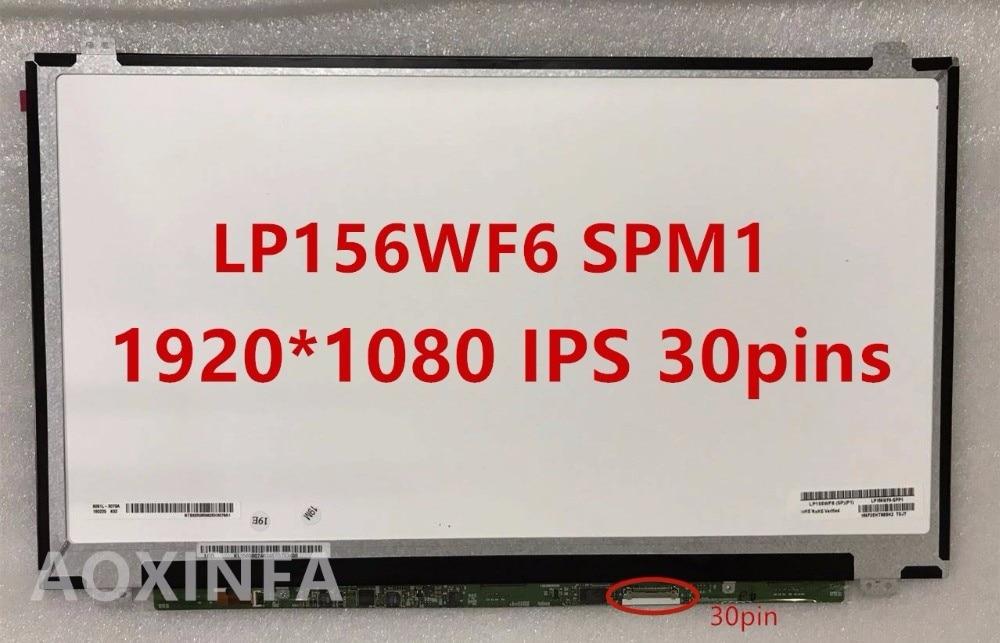 Free Shipping LP156WF6 SPL1 SPC1 SPK1 SPM1 SPA1 SPH1 B156HAN01.2 LP156WF4 SPB1 IPS 30PIN EDP 1920X1080 LCD SCREEN PANEL free shipping 15 6 new replacement lp156wf6 sp b1 laptop lcd screen panel 1920x1080 fhd edp 30 pins ips