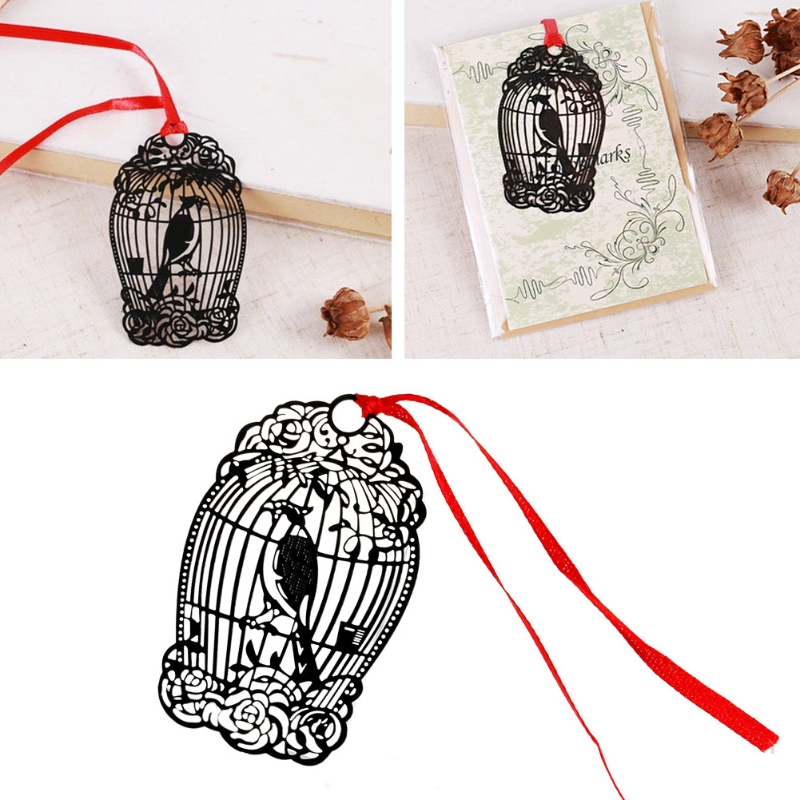 Bird Cage Metal Bookmark Creative Gift Book Magazine Label Mark Kid Reading New in Bookmark from Office School Supplies