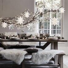6Pcs/set Paperboard 3D Hollow Snowflake Christmas Decorations New Year Garland Tree Ornaments Navidad Natal