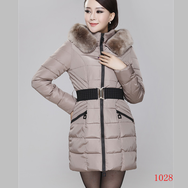 Plus Size New Winter Women Fashion Slim Warm Faux Fox Fur Collar Hood Down Cotton Wadded Jacket Cotton Padded Jacket L-3Xl D1544 2013 women autumn winter fashion candy color faux wool fur collar hood slim long thick cotton padded coatm l xl d2151