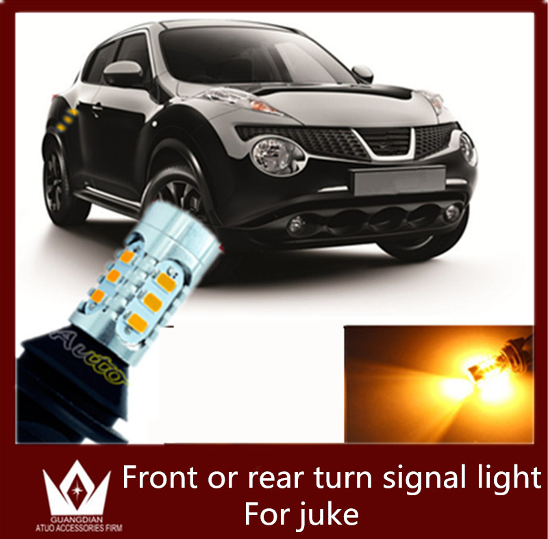 Guang Dian car <font><b>led</b></font> light front turn signal Rear turn signal lamp Warning <font><b>led</b></font> lamp <font><b>py21w</b></font> <font><b>bau15s</b></font> with resistor for JUKE 2010-2015