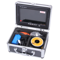 30M Professional Fish Finder Underwater Fishing Video Camera 7 Color Monitor 1000TVL HD CAM 12pc Infrared