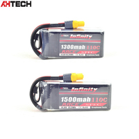 Infinity 14.8V 1300mah / 1500mah 110C 4S1P Race Spec Lipo Battery for RC FPV Racing Drone Quadcopter Helicopter